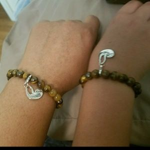 Mommy or Daddy & Me Custom Made Tiger Eye Bracelet